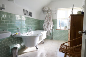 Green Subway Tile in Vancouver bathrooms